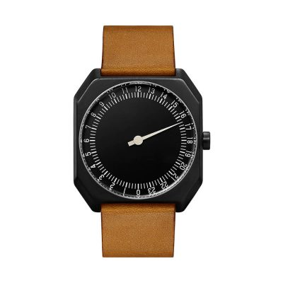 slow Jo 19 - Swiss one-hand wrist watch - Black, Brown